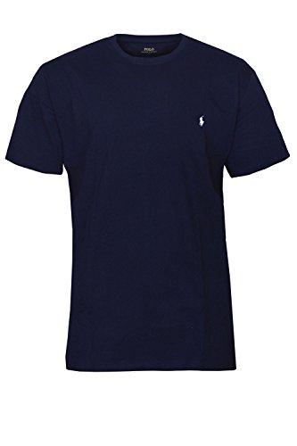 Polo Ralph Lauren Herren Rundhals T-Shirt Basic (M, Navy)