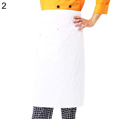 CAheadY Küche, die Restaurant-Bäckerei-Schutztaille-halbe Schutzblech-Abdeckung mit Taschen-haltbarem kochendem Helfer kocht 2# -