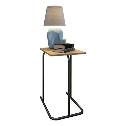 eSituro SCD0062 Beistelltisch Nachttisch Telefontisch Kaffeetisch Couchtisch Holz Stahl (Aktenschrank Beistelltisch)
