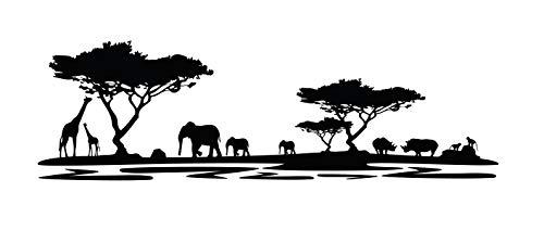 Tattoomaker PrimeStick Premium–Adhesivo Decorativo para África Elefantes Dibujos Jirafas Animales máximo XXL...