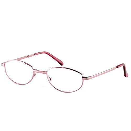 Zhuhaixmy Lesebrille Falten Oval Metall Rahmen Glasur Harz Linse Elegant Leser Damen Brille 1.0 1.5 2.0 2.5 3.0 3.5 4.0