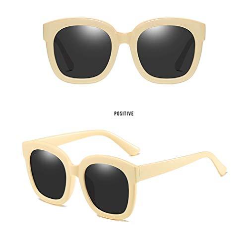 Sonnenbrillen Koreanische Version Des Roten Spiegels GM Schwarz Großes Rundes Gesicht UV-geprüfte Polarisierte Sonnenbrille Flut Männer Und Frauen Mit Dem Gleichen Absatz ( Farbe : Weiß )