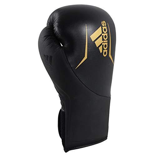 Adidas speed 200 - guanti da boxe, unisex, adisbg200, nero/oro, 16 oz