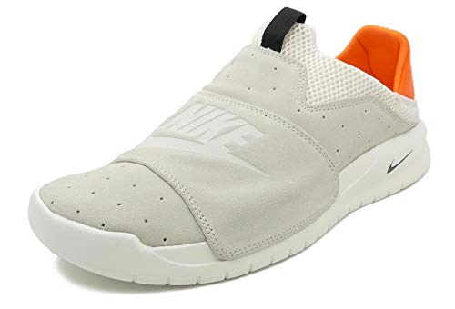 NIKE Men's Benassi SLP Grey/Orange Casual Shoes 882410-003