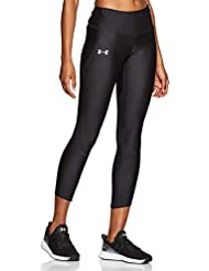 Under Armour, Armour Fly Fast Crop, Leggings, Donna, Nero (Black/Black/Reflective 001), XS