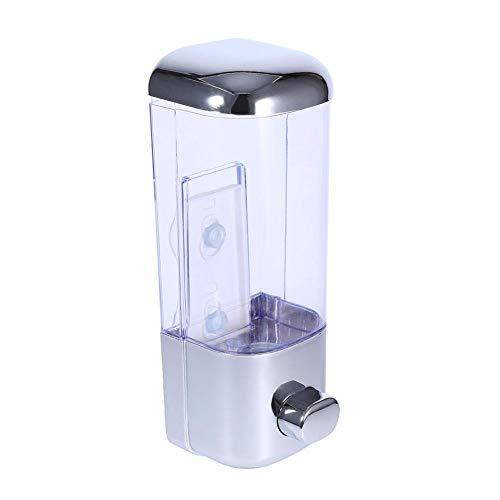 Dispensador de jabón topincn Soporte a pared Manual Shampoo loción ducha gel Dispensador Recipiente para baño cocina office Hotel-500ml