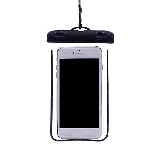 Lorjoyx Natación Impermeable del teléfono Bolsa subacuática con la Caja Seca Cubierta de la Correa noctilucentes PVC para teléfonos Inteligentes