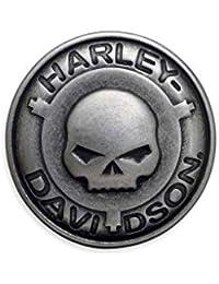 97777-17VM HARLEY-DAVIDSON Matte Black Spinner Buckle G/ürtelschnalle