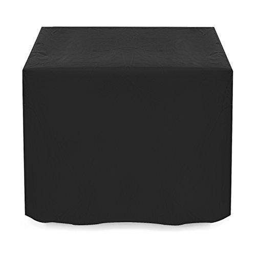 Dokon copertura mobili giardino impermeabile telo protettivo per tavolo, anti vento sole neve tessuto 420d oxford copertura per tavolo da esterno, quadrato (125x125x74cm) - nero