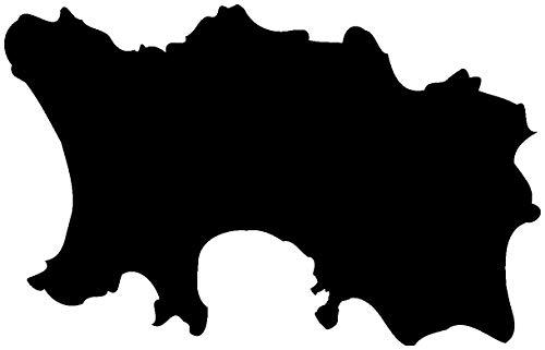 Samunshi® Jersey Insel Aufkleber englische Kanalinsel in 8 Größen und 25 Farben (8x5,1cm schwarz)