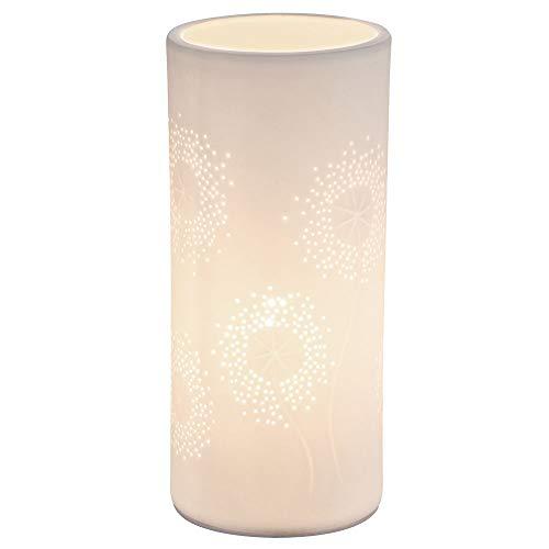 Porzellan Tisch Leuchte Lese Lampe Dekor Stanzungen weiß matt Wohn Zimmer Beleuchtung Globo 15919T -
