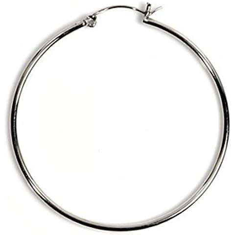 925 Silver 2 x 14 mm Snap Messaggio orecchini a cerchio