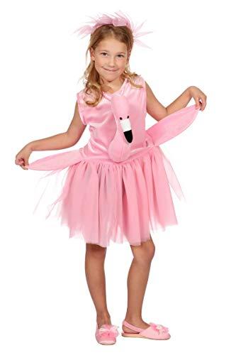 Wilbers Kinder Kostüm Flamingo Kleid Haarreif Karneval Fasching