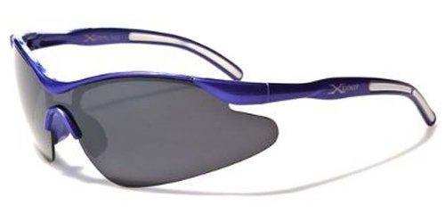 X-Loop Kinder Junge Sport-Verpackungs-Schild Baseball Angeln Sonnenbrille - 100 Rauch Klein Blau