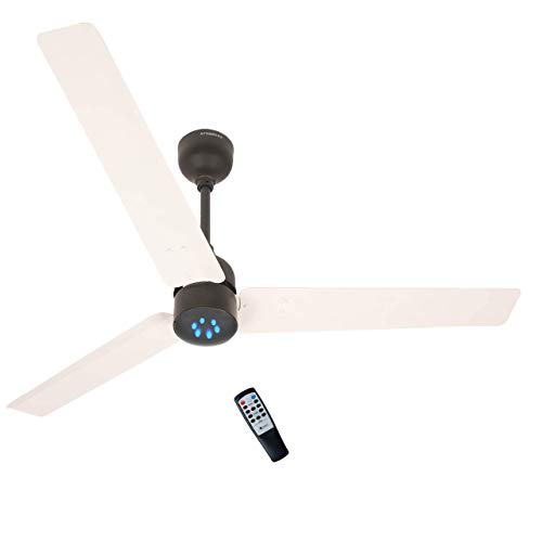 Atomberg Renesa 1200 mm BLDC Motor with Remote 3 Blade Ceiling Fan(White and Black, Pack of 1)