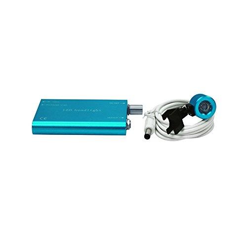 Denshine Dental Chirurgisch LED Stirnlampe Medizin für Lupen (Blau)