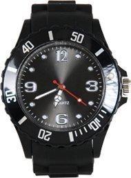 Avcibase **Premium** SCHWARZ SILIKON UHR XL Mode UNISEX Armbanduhr Damenuhr Herrenuhr Sport STYLE Trend WATCH stark in der Mode Qualitäts Uhren Top Qualität Absolutes Must-Have! Keine billig Farbe in SCHWARZ?