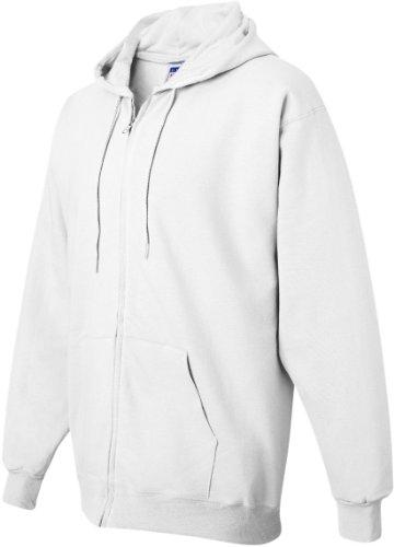 Hanes da uomo Ultimate cotone full zip in pile cappuccio–F280 Bianco