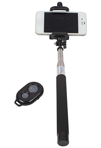 Photron SLF250 Handheld Extendable Selfie Monopod Stick with Bluetooth Remote...