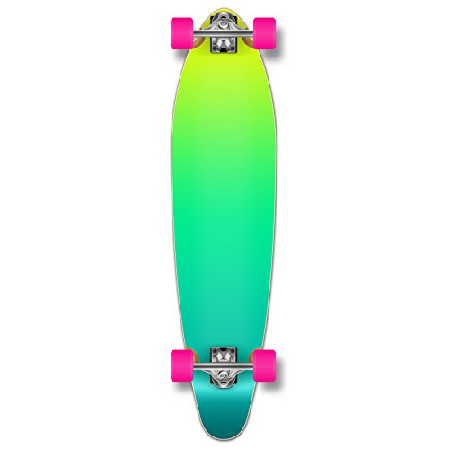 Yocellow Kicktail Concave Pro Longboard Complete Cruiser