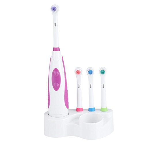 Elektrische Zahnbürste, elektronische Whitening Brush Reise Reinigung Zahnbürste Oral Care Battery Power(Lila)