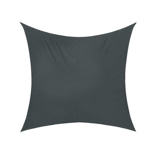 Jarolift Voile d'ombrage | Toile d'ombrage | Carré | Tissu imperméable à l'eau | 360 x 360 cm, anthracite