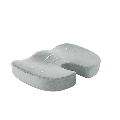 Naipo Cuscino per Sedia Supporto Lombare con Supersoft Memory Foam Cupertura Scamosciata e Correggere la Seduta per Casa, Scuola, Ufficio e Auto