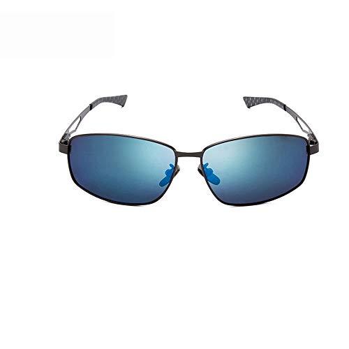 ChenYongPing Unisex Sonnenbrille New Wayfarer Nicht Polarisierte Sonnenbrille Für Männer Für Frauen Sonnenbrille 64 Mm ideal für alle Klima-und Wetterbedingungen (Farbe : Blau 1, Größe : Casual Size)