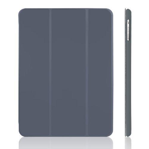 JETech Hülle für Apple iPad Air (2013 Modell), Schutzhülle mit Ständer Funktion und Auto Schlaf/Wachen, Dunkel Grau