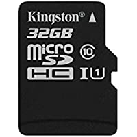Kingston SDC10G2/32GBSP 32 GB UHS Class 1/Class10 microSDHCUHS-I Flash Memory Card, Black
