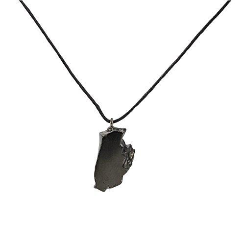 Olgante de Caído Shungite Élite - Natural Brillante Plata Color Garantía Auténtica Piedra Rara 4 veces más eficaz Mejora Curación de Piedra Chakra, Reiki Protección EMF de Karelia Rusia