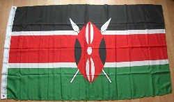 Grand drapeau Kenya - 7,6 cm x 61 cm.