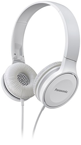 Panasonic On Ear Stereo Headphones RP-HF100ME-W with Integrated Mic and...