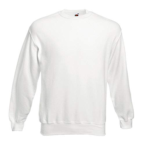 Fruit of the Loom - Sweatshirt 'Set-In' L,Weiß Weiße Herren Pullover