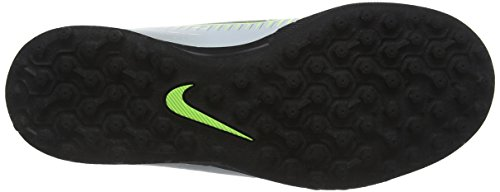 Nike Jr Mercurialx Vortex Iii Tf, Chaussures de Football Mixte Adulte Argent (Pure Platinum/Black-Ghost Green)