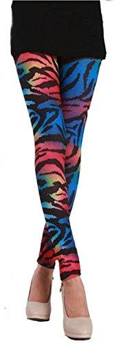 olour Zebra Leggings Animal Print bunt Gr. 34/36 ()