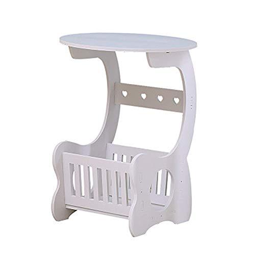 SQIHUI Massivholztisch, Wohnzimmer, Runden Tisch, Modern Minimalistische Couchtisch, Schlafzimmer, Dekorative Nachttisch