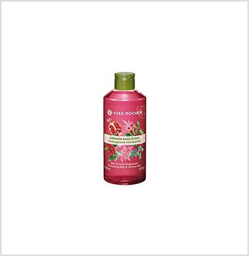 Duschgel-granatapfel-ingwer (Yves Rocher LES PLAISIRS NATURE Duschbad Granatapfel-Rosa Pfeffer, Aroma-Schaumbad & pflegendes Duschgel, 1 x Flacon 400 ml)