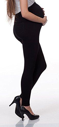 2 Set Damen Umstandsmode Leggings Umstandsleggings Umstands- Leggings Strumpfhosen Leggins Schwarz