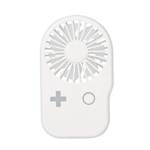 HiXB USB Lüfter Leiser geräuschloser, tragbarer Lüfter mit Zwei Geschwindigkeitsstufen für das Büro im Freien,White