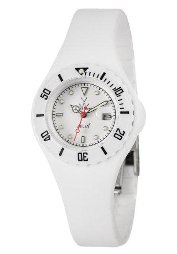 Swiss Legend JY11WH - Reloj para mujeres, correa de goma color blanco
