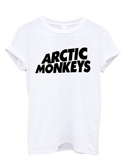 T-shirt Homme Arctic Monkeys - T-shirt 100% coton LaMAGLIERIA, S, Blanc