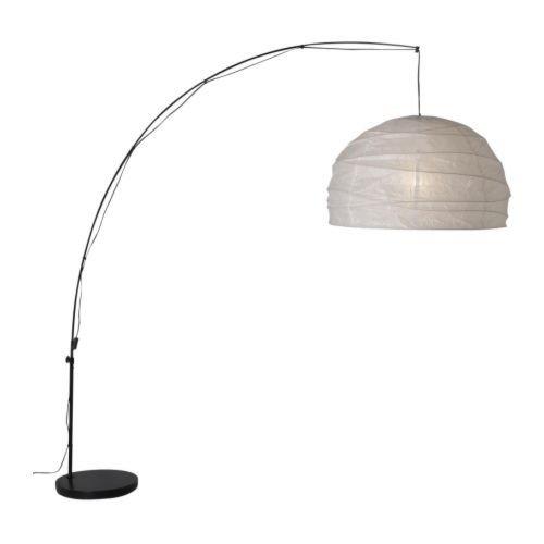 IKEA REGOLIT Standleuchte in weiß und schwarz; bogenförmig