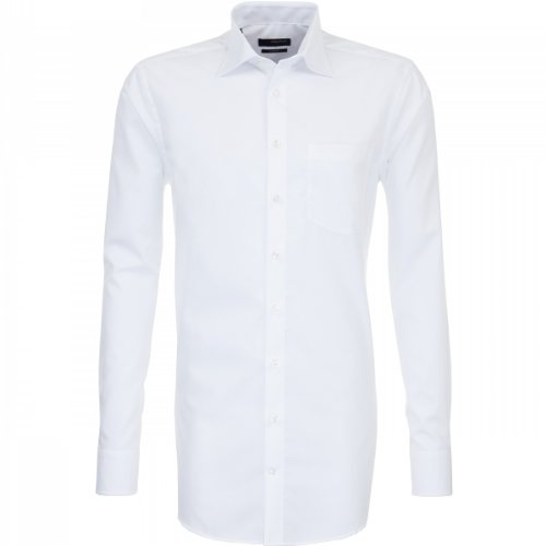 SEIDENSTICKER Splendesto Fil à Fil Hemd mit extra langen Ärmeln Weiß