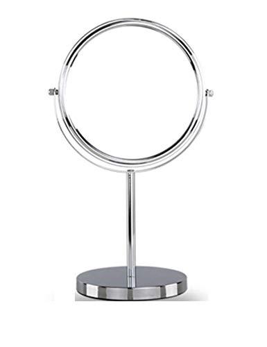 Preisvergleich Produktbild WALIZIWEI Mini Portable Desktop Spiegel Spiegel Ankleidezimmer Double Face Make-up-Spiegel aus Metall geeignet für Schlafzimmer und Bad.