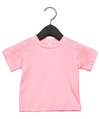 Bella & Canvas Baby Jersey-Shirt, kurzärmelig, 12-18 Monate, Rosa