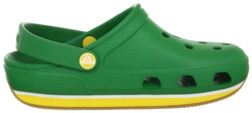 Crocs Retro, Sabots mixte enfant Vert (Kelly Green/Yellow)