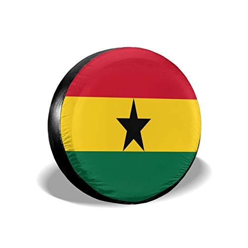 YuYfashions Flag Quiz Ghana Spare Wheel Tire Cover Waterproof for 14 15 16 17 inch Tire Diameter Copertura del Pneumatico