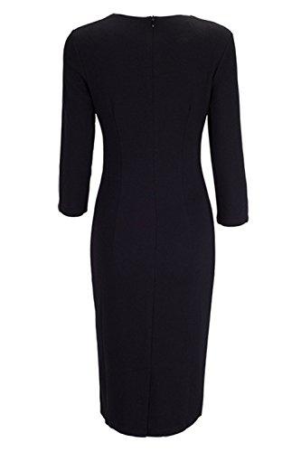 Damen V Ausschnitt Business Kleid Partykleid Pencil Etuikleider Strecken Tunika Gr.S-4XL MisShow Khaki