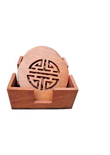 XJAXY Untersetzer Palisander Tischisolierung Pad Coaster Creative Home Holz Dicke SchüSsel Matte, Runder Abschnitt -